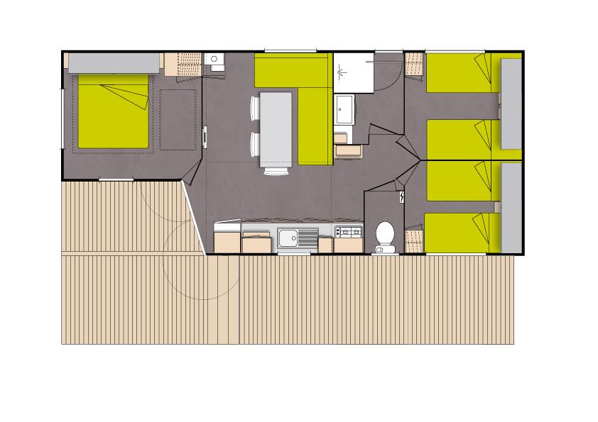 Camping Eskualduna : Loggia Plan Terrasse