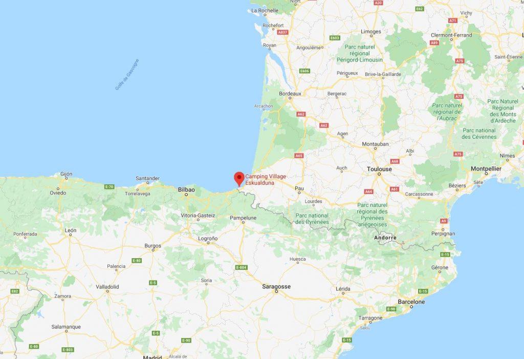 Camping Eskualduna: Mapa