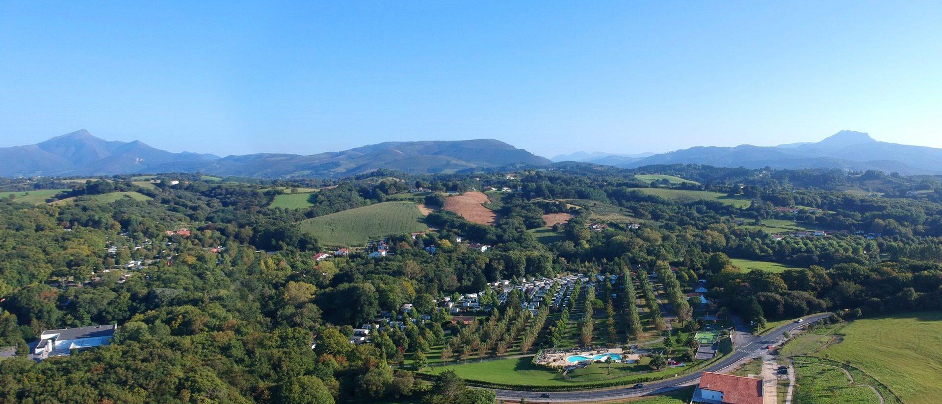 Camping Hendaye Eskualduna : Panorama sur les paysages environnants