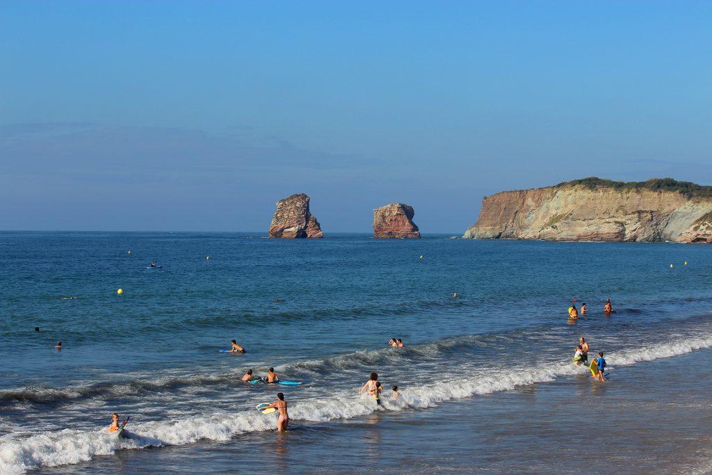 camping cote basque 4 etoiles, Eskualduna : Vue de la Plage d'Hendaye